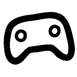 ゲーム コントロールは、手を描く、不規則なフリー アイコン