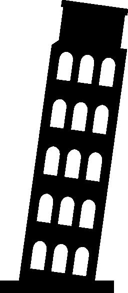 ピサの斜塔無料アイコン
