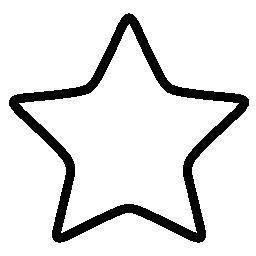 白い星概説図形無料アイコン