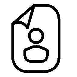 個人ページのアウトライン シンボル無料アイコン