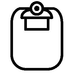クリップボードの輪郭の白い図形無料アイコン
