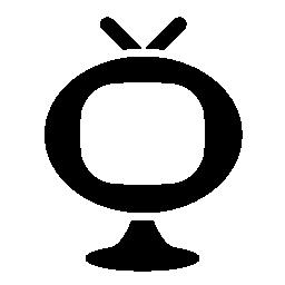 楕円形の無料アイコンのモニター