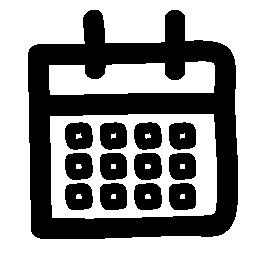 不規則な形の無料アイコンのカレンダー