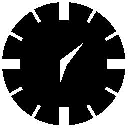 円形、黒いバリアント無料アイコンでクロックします。