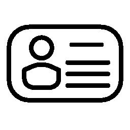 丸みを帯びた形状の無料アイコンの個人カード