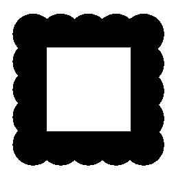 黒の無料アイコンの正方形のフレーム