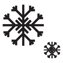 IOS 7 雪フレーク無料アイコン