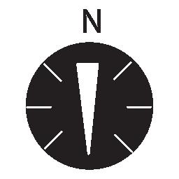 コンパス、IOS 7 インタ フェース シンボル無料アイコンの南