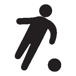 サッカー プレーヤー黒い図形、IOS 7 インタ フェース シンボル無料アイコン