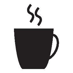 ブラック コーヒーのカップ形状、IOS 7 インタ フェース シンボル無料アイコン