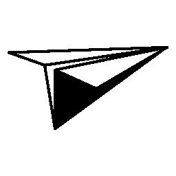 紙飛行機、IOS 7 インタ フェース シンボル無料アイコン