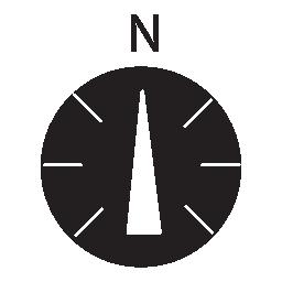 北のコンパス、IOS 7 インタ フェース シンボル無料アイコン