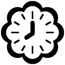 黒の詳細無料アイコンと花時計図形