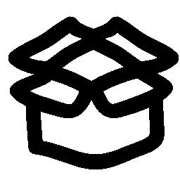 ファイルを開くボックス落書き概要無料アイコン