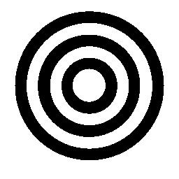 大きい円の無料アイコン内の 2 つの円