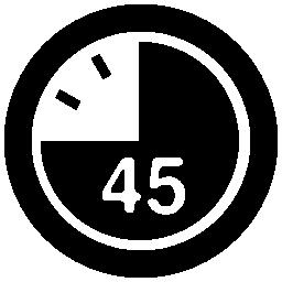 時計の無料アイコン 45 秒