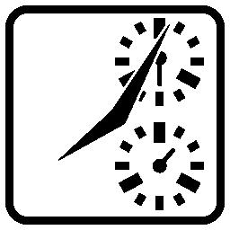広場の時計はクロノグラフ無料アイコン