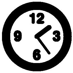 丸い時計概要無料アイコン