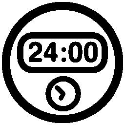 丸い時計無料アイコンを 24 時間