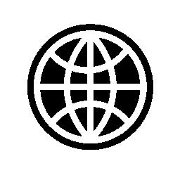 グローブ グリッド暗いアウトライン無料アイコン