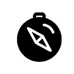 暗い円形無料アイコンのコンパス