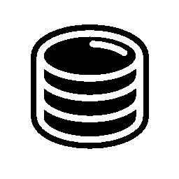 濃い色のアウトライン無料アイコンとコイン スタック