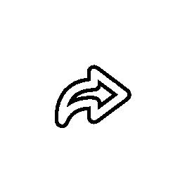 IOS 7 インタ フェース シンボル無料アイコンの右向き矢印のアウトライン