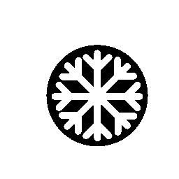 黒スノーフレーク無料アイコン