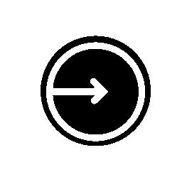 サークル, ログイン, IOS 7 インタ フェース シンボルの中心を指す矢印無料アイコン