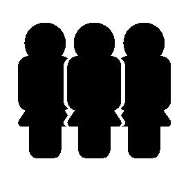 女性の輪郭の無料アイコンのグループ