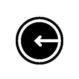 円形概要無料アイコン内部の左側にある矢印
