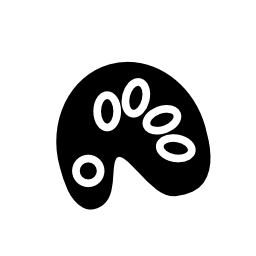ペイント カラー パレット無料アイコン