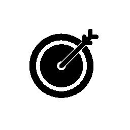 IOS 7 インタ フェース シンボル無料アイコン ターゲットでダーツします。