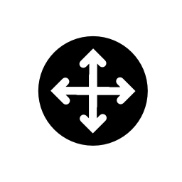 オブジェクト移動の IOS 7 インターフェイス無料アイコンの矢印記号