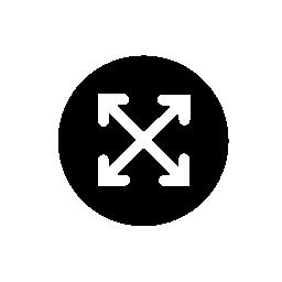 十字模様の矢印無料アイコン