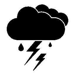 雷雨、天候無料アイコンの IOS 7 インタ フェース シンボル