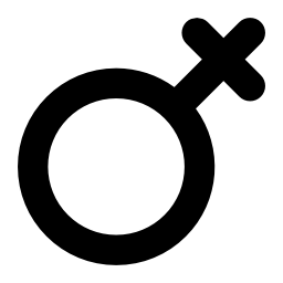 回転した女性のシンボル男性の記号は、IOS 7 インターフェイス無料アイコンのように思える