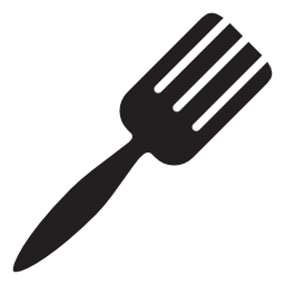 黒いフォーク形状、IOS 7 インタ フェース シンボル無料アイコン