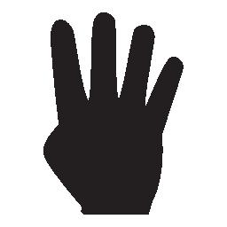 4 指手に黒い図形、IOS 7 インタ フェース シンボル無料アイコン