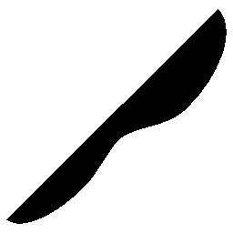 黒のナイフの形状、IOS 7 インタ フェース シンボル無料アイコン