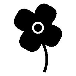 黒花の形、IOS 7 インタ フェース シンボル無料アイコン