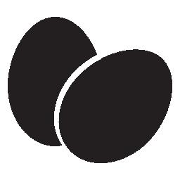 卵、黒、IOS 7 カップルのシンボル無料アイコン
