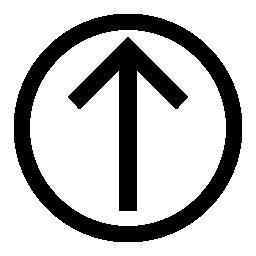 IOS 7 の円のアウトラインの内側を矢印シンボル無料アイコン