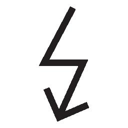 雷、矢印、IOS 7 シンボル無料アイコン