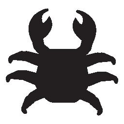 カニの黒い図形、IOS 7 シンボル無料アイコン