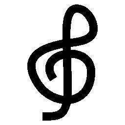 高音部記号、IOS 7 インタ フェース シンボル無料アイコン