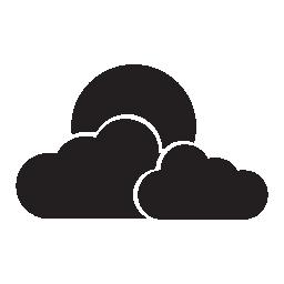 曇り満月、IOS 7 インタ フェース シンボル無料アイコン
