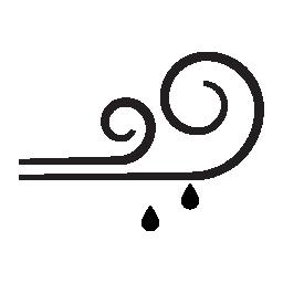 風と雨の pronostic IOS 7 インターフェイス無料アイコンのシンボル
