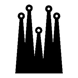 建物のサグラダ ・ ファミリア、IOS 7 シンボル無料アイコン