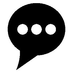 無料のアイコンを 3 つの白い点と考えバルーン